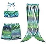 iEFiEL 3Pcs Girls Swimmable Mermaid T...