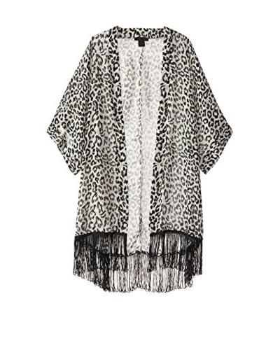 Steve Madden Women's Kimono, Black/White