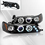 Toyota Corolla 93 94 95 96 97 Projector Headlights /w Halo/Angel-Eyes ~ pair set (Black)