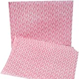 "Brawny Dine-A-Wipe 29427 Pink and White 1/4 Fold Foodservice Busing Towel, 17"" Length x 13"" Width (Pack of 240)"