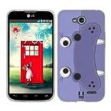 Head Case Designs Hippopotamus Animal Patches Soft Gel Back Case Cover for LG L90 D405 L90 Dual D410