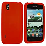 Orange Silicone Rubber Gel Soft Skin Case Cover for LG Optimus Black P970 / LS855 / LG B