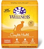 Wellness Complete Health Natural Dry Cat Food, Indoor Health Chicken Recipe, 11.5-Pound Bag