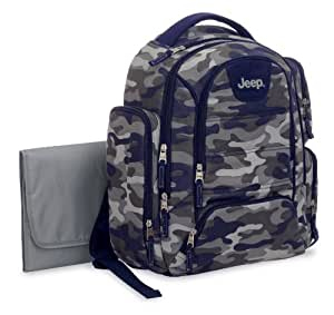 jeep camo backpack diaper bag blue. Black Bedroom Furniture Sets. Home Design Ideas