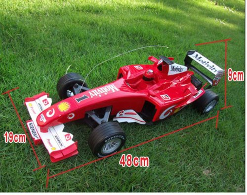 Rc Racing F1 Formula Car Radio Remote Control Cars Toys Brand New Flashing Lights Scale 1:10 Red