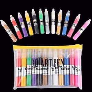 12 X Lápiz Pa Crear Arte De Uña Nail Art Multicolor Manicura