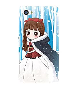 99Sublimation Cute Girl 3D Hard Polycarbonate Back Case Cover for Sony Xperia Z5 Premium/ Premium Dual