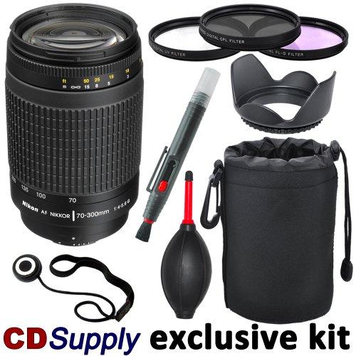 Nikon 70-300Mm F/4-5.6G Af Nikkor Slr Camera Telephoto Zoom Lens - Import For Nikon Slr Cameras, Includes; 9Pc Cd Supply Accessory Kit