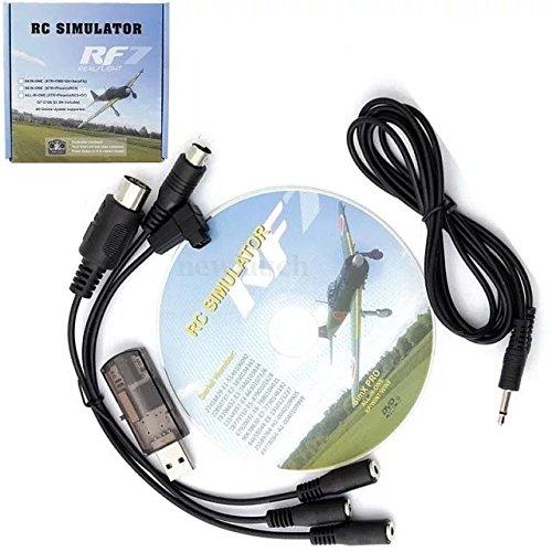 Paddsun® US 12 in 1 USB Simulator Cable Support FMS G4/G4.5/G5 XTR AeroFly RC RealFlight