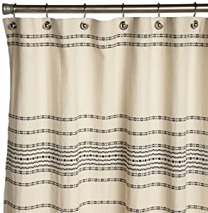 Black And Ivory Shower Curtain