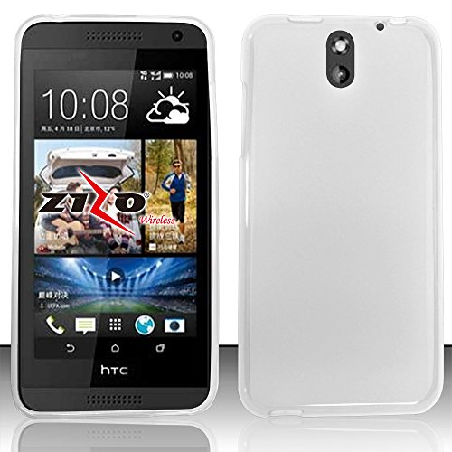 Htc Desire 610 (At&T) - Transparent Clear Flexible Tpu Slim Fit Gel Skin Cover Case + Atom Led Keychain Light