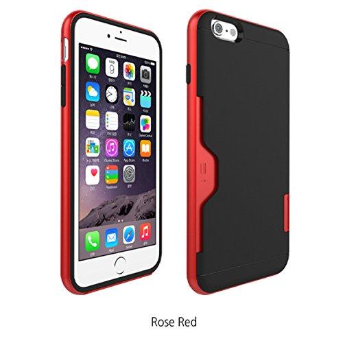 フォンフォーム[PhoneFoam] Iphone 6 Plus ケース・カバースリム カードホルダー保護ケース Golf Line (Rose Red)
