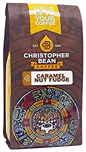 Christopher Bean Coffee Flavored Decaffeinated Ground Coffee, Caramel Nut Fudge Truffle, 12 Ounce from Christopher Bean Coffee