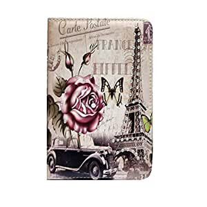 Eiffel Tower Floral Bling Flip Leather Smart Case With Sleep/Wake And Stand Function For Samsung Galaxy Tab 2 P3100
