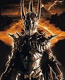Poster mit Sauron Flammenauge Feuer Auge Motiv-Der Herr der Ringe, 40 x 50 cm