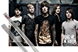 Poster + Hanger: Bring Me The Horizon Poster (36x24 inches) Suicide Season and 1 set of 1art1® Poster Hangers