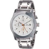 Maxima Attivo Chronograph White Dial Men's Watch - 27181CMGI