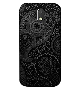 Fixed Price Printed Back Cover For Moto E3 (Multicolor)