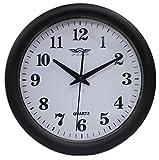 Swiss Master Classic Plastic Round Wall Clock (32 cm x 32 cm x 5 cm, Black) - 2935