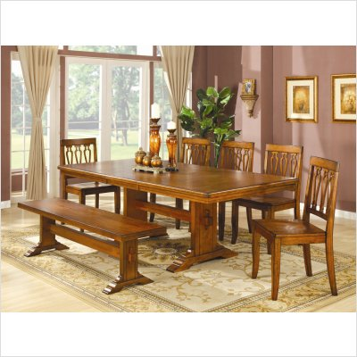 Buy Low Price Lifestyle California Tuscany Rectangular Dining Table in Distressed Rustic Tuscany (31-727)