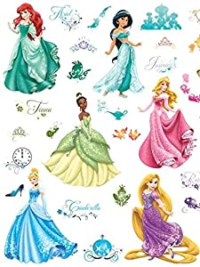 Roommates Rmk2199Scs Disney Princess Royal Debut Peel And Stick Wall Decals from RoomMates