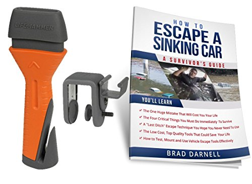Life Hammer EVOLUTION Safety Hammer & FREE Car Escape Guide! The # 1 Rated Car Escape Hammer in the World. Made by Life Safety Products (The Netherlands) Used By First Responders Worldwide!