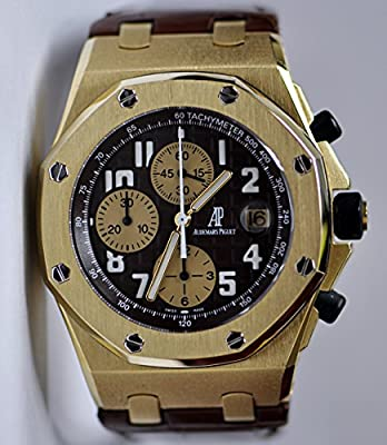 Audemars Piguet Royal OAk Offshore Arnold Schwarzenegger Yellow Gold Watch Leather 26007BA.OO.D088CR.01