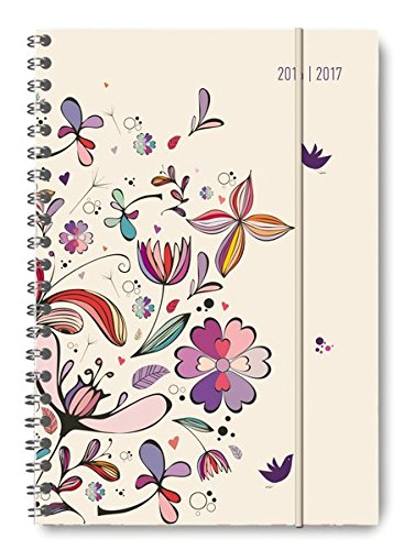 Collegetimer A5 Flower Art 2016/2017 - Ringbuch