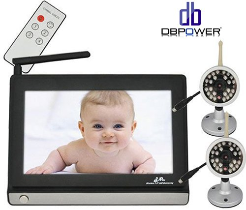 2X Cameras 7 Inch 2.4Ghz Wireless Lcd Baby Monitor Receiver Ir Night Vision Kit