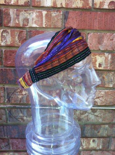Inspirit Arts Large Earthtone Headband Expandable Handwoven Headwrap Elastic ... front-487546