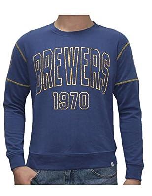 MLB Mens Milwaukee Brewers Athletic Warm Sweatshirt (Vintage Look)