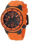 Swiss Legend Women's 11840P-BB-01-OR Neptune Black Dial Orange Silicone Watch