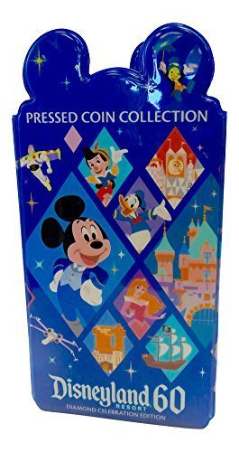 Disneyland 60th Diamond Anniversary Celebration Pressed Coin Collection Book by Disney (Disney Pressed Penny Book compare prices)