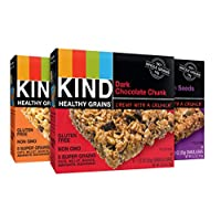 KIND Healthy Grains Granola Bars, Variety Pack, Gluten Free, 1.2 oz Bars, 15 Count