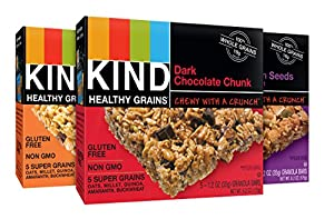 KIND Healthy Grains Granola Bars, Variety Pack, 5 Count (Pack of 3)