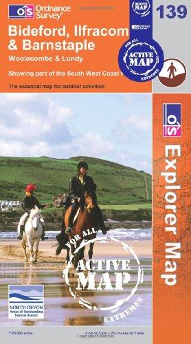 Bideford, Ilfracombe and Barnstable (OS Explorer Map Active)
