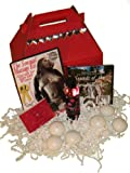 Valentine's Sweetheart Gift Basket: Sensual Couples Massage man and woman DVDs, Massage Oil, Relaxation Music CD (2 DVD/1 Oil/1 CD)