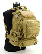 Jtech Gear Heracles Operation Backpack, Camel Tan/Coyote Tan