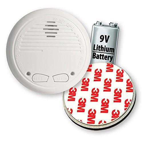 1 Nemaxx WL10 Funkrauchmelder mit 10 Jahre Lithium Batterie Rauchmelder Feuermelder Set Funk koppelbar vernetzt - nach EN 14604 + 1x NX1 Quickfix Magnet