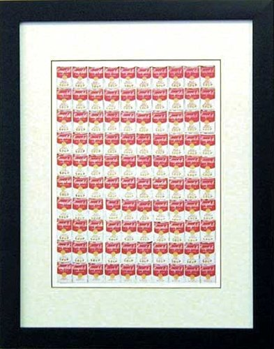 アンディ ウォーホル《キャンベルスープ缶/IAW-60258》ポスター額付☆ポップアートインテリア通販☆