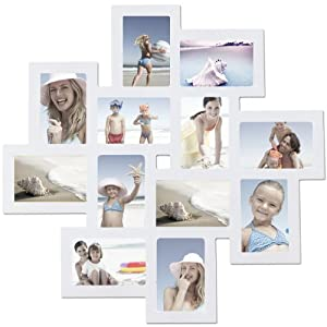 Adeco pf0205 decorative white wood wall - White wooden picture frames ...