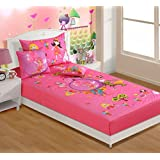 Swayam Kids N More Digital Print Mercerised Cotton Single Baby Bedsheet With 1 Pillow Cover - Multicolor (SKB02...