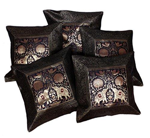 5-pcs-elefante-bordado-banarasi-brocade-etnico-trabajo-seda-funda-de-almohada-fundas-de-cojin-17-x-1