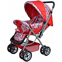 Happy Kids Stroller with Reversible Handle (Red)