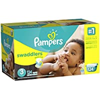 Pampers Swaddlers Diaper Size 3 Giant Pack (124 Count)