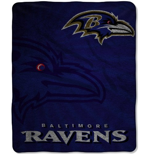NFL Baltimore Ravens Strobe Sherpa Throw Blanket
