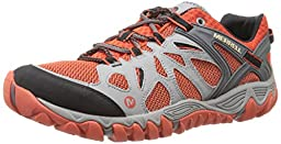 Merrell Men\'s All Out Blaze Aero Sport Hiking Water Shoe, Grey/Red Clay, 11.5 M US