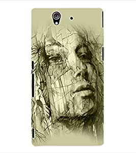 ColourCraft Abstract Back Case Cover for SONY XPERIA Z - C6603 / C6602
