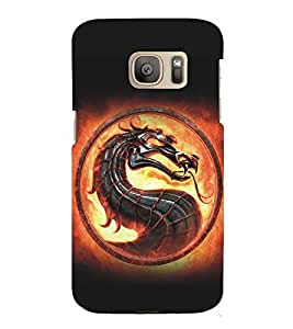 Fuson Premium Back Case Cover Animated Anaconda Snake With Pink Background Degined For Samsung Galaxy S7::Samsung Galaxy S7