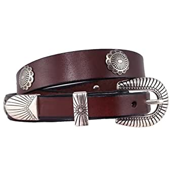 santa fe leather co s 431t tapered concho belt